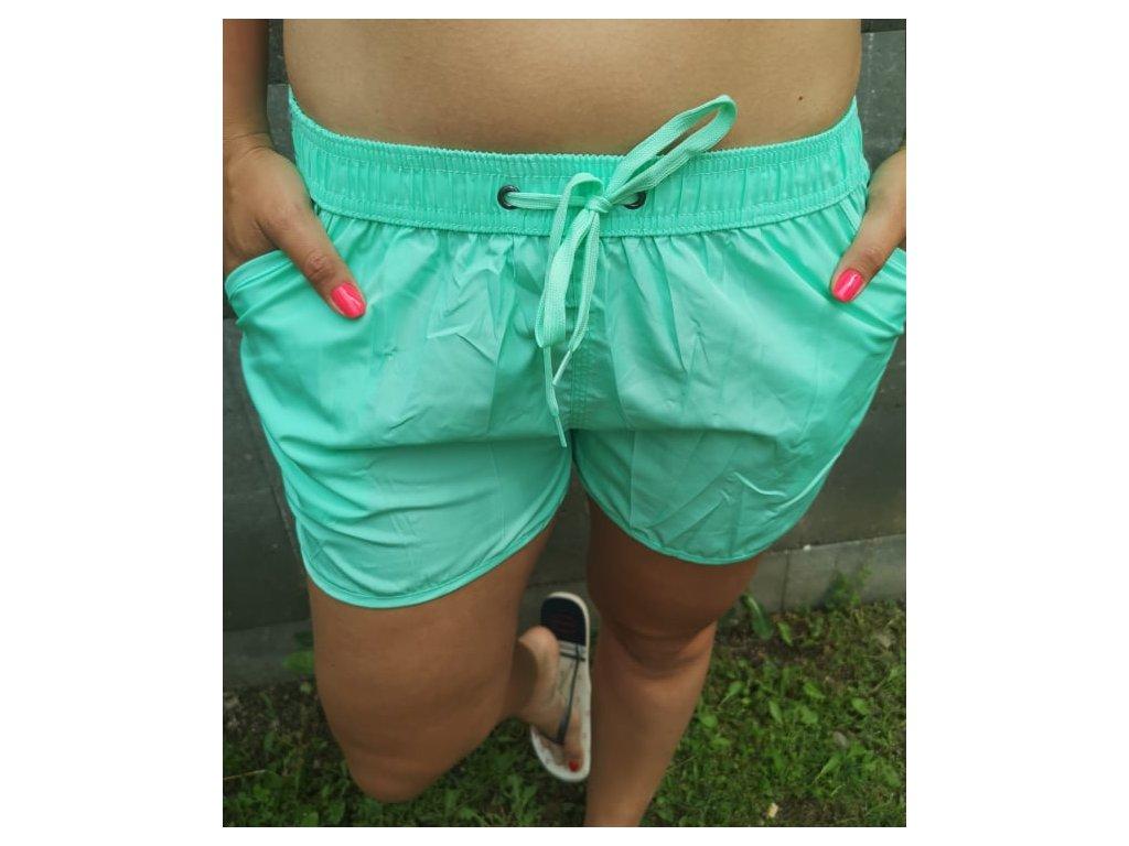 Dámské šortky zelené