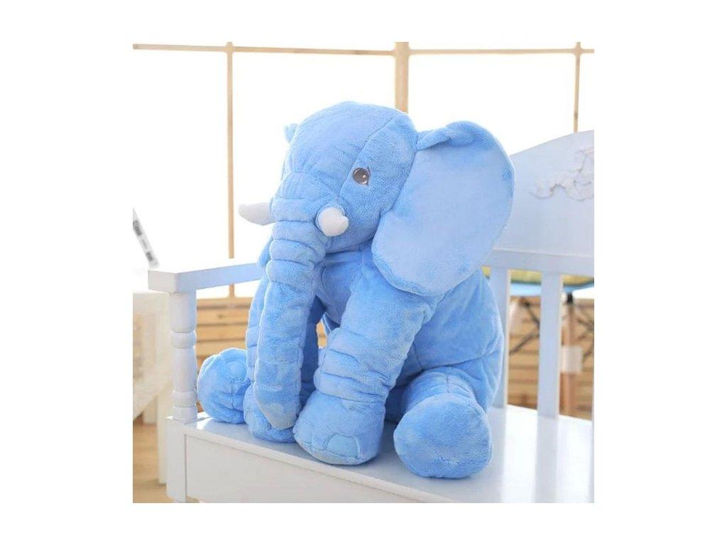plyšový slon modrý