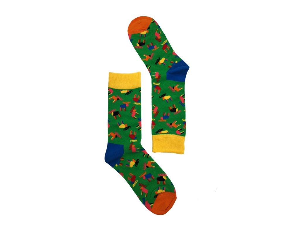 Dámské ponožky jeleni 2
