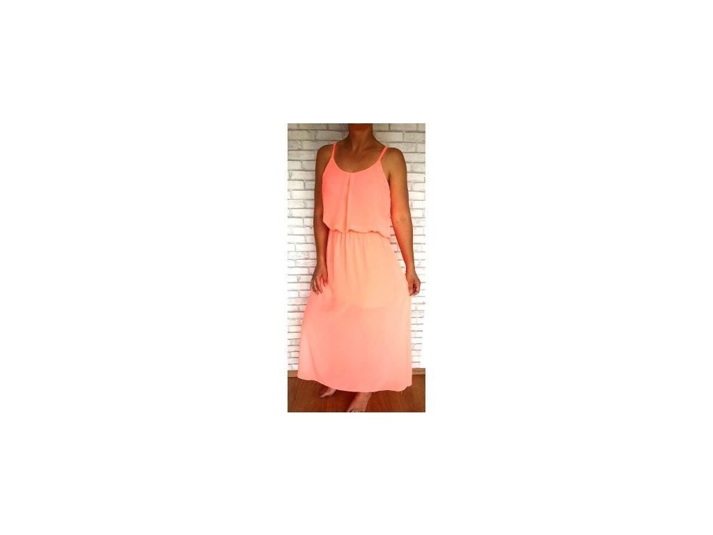 šaty neon oranžové
