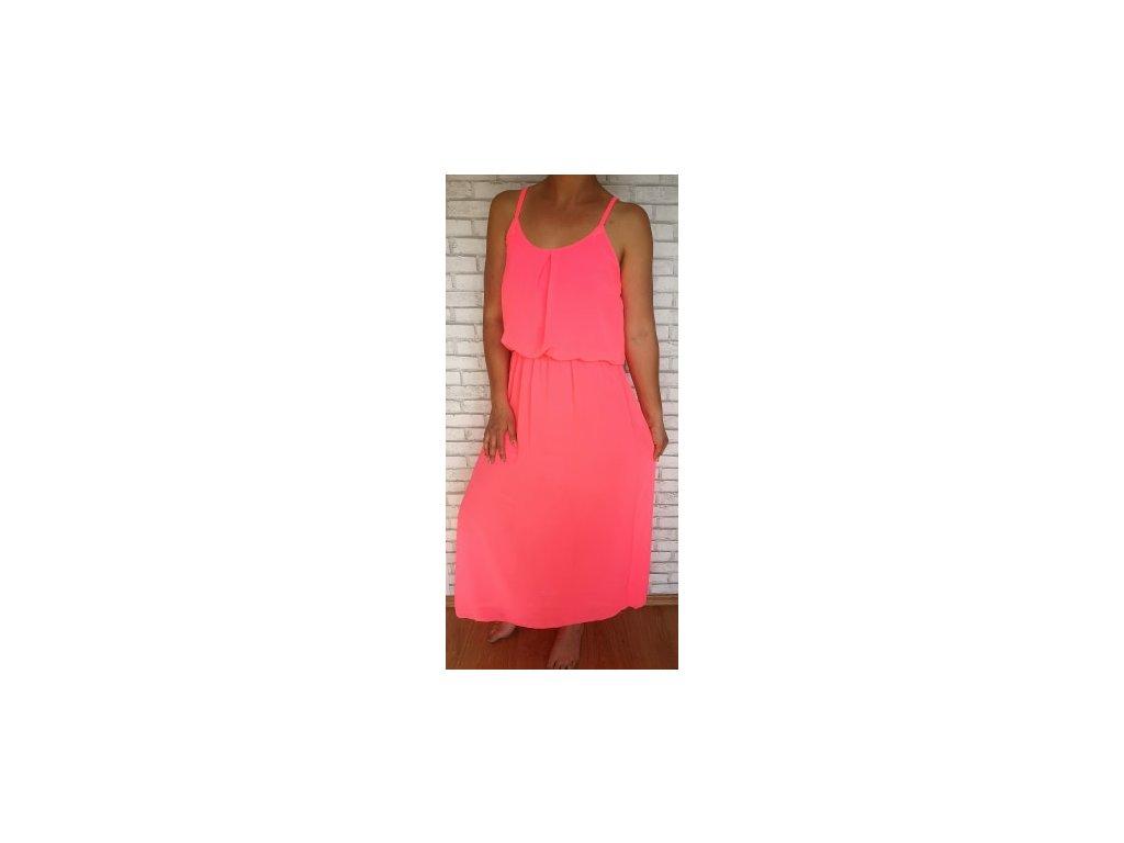 šaty neon růžové
