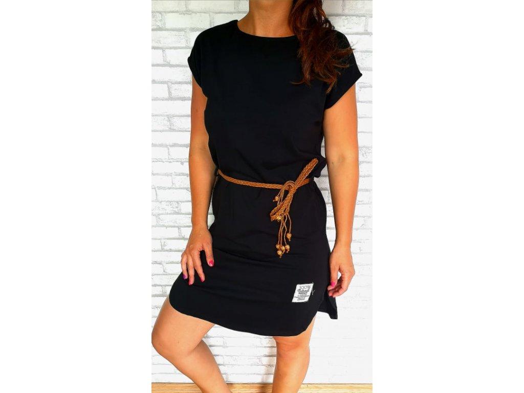 šaty bavlna černé