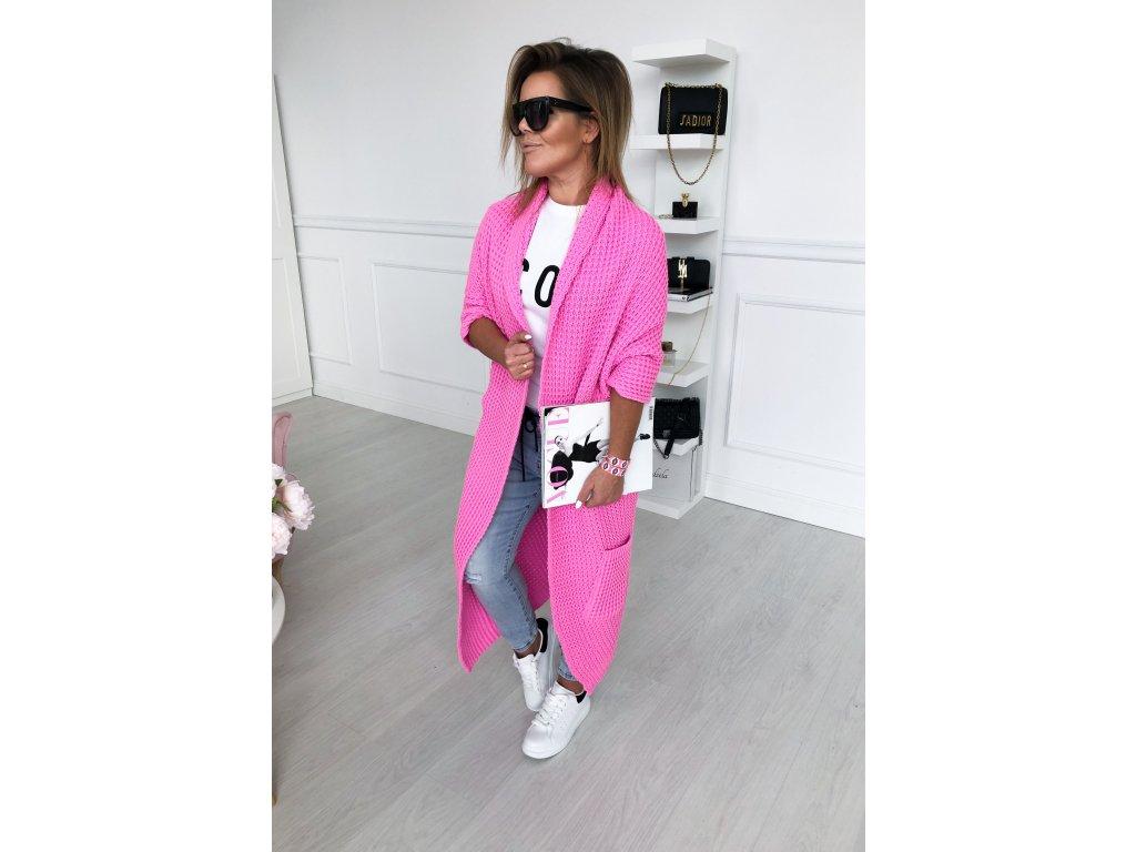 pletená vesta růžová