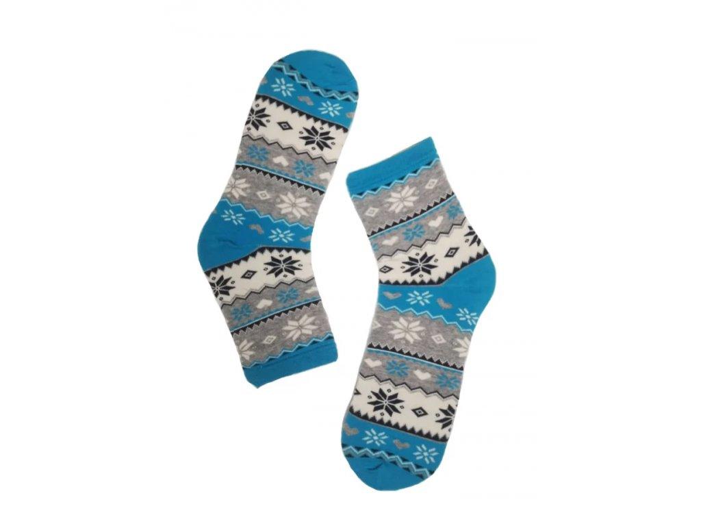 Dámské ponožky norský vzor