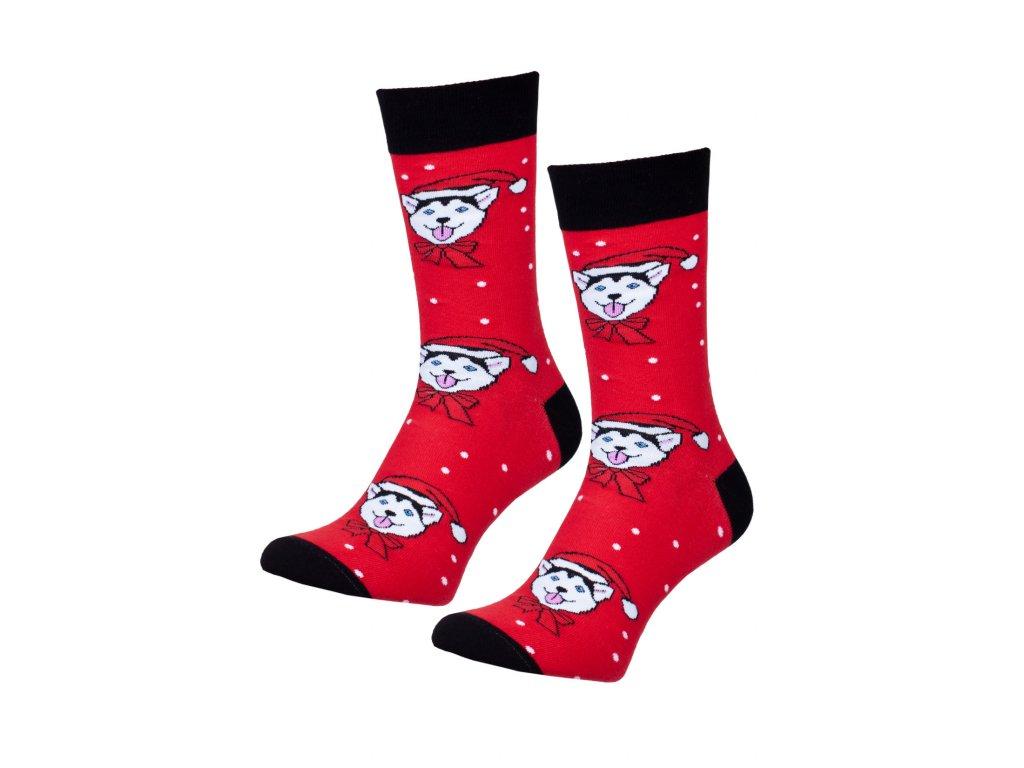 Pánské Vánoční ponožky červené