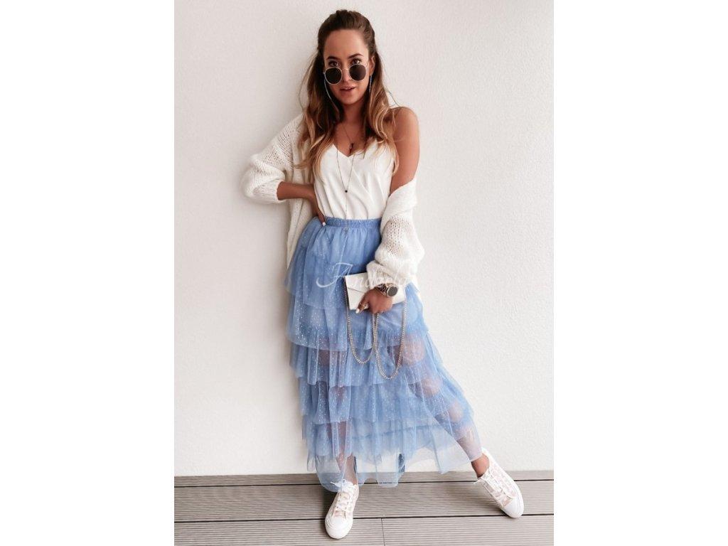 Dlouhá tutu sukně modrá