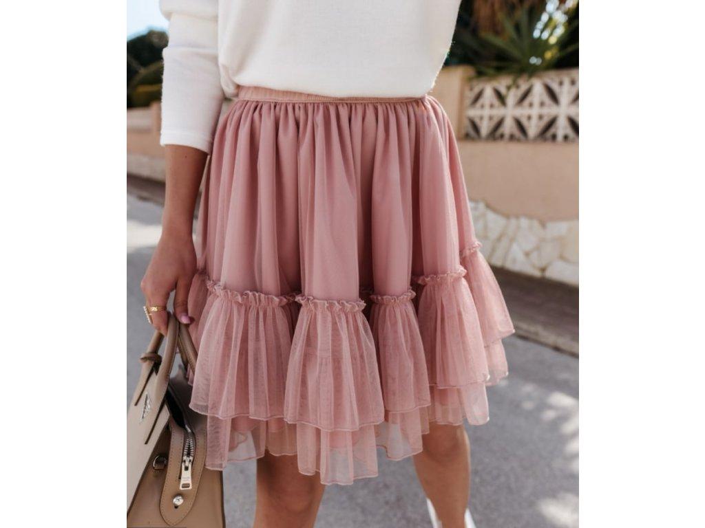 sukně krátká pudr