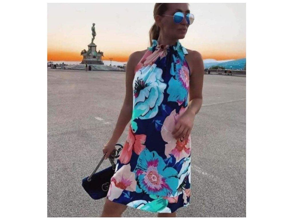 šaty velké květy
