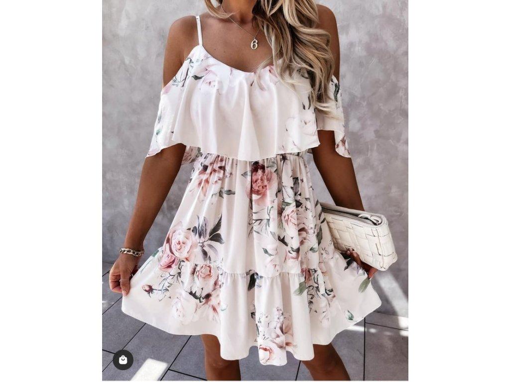 šaty květy