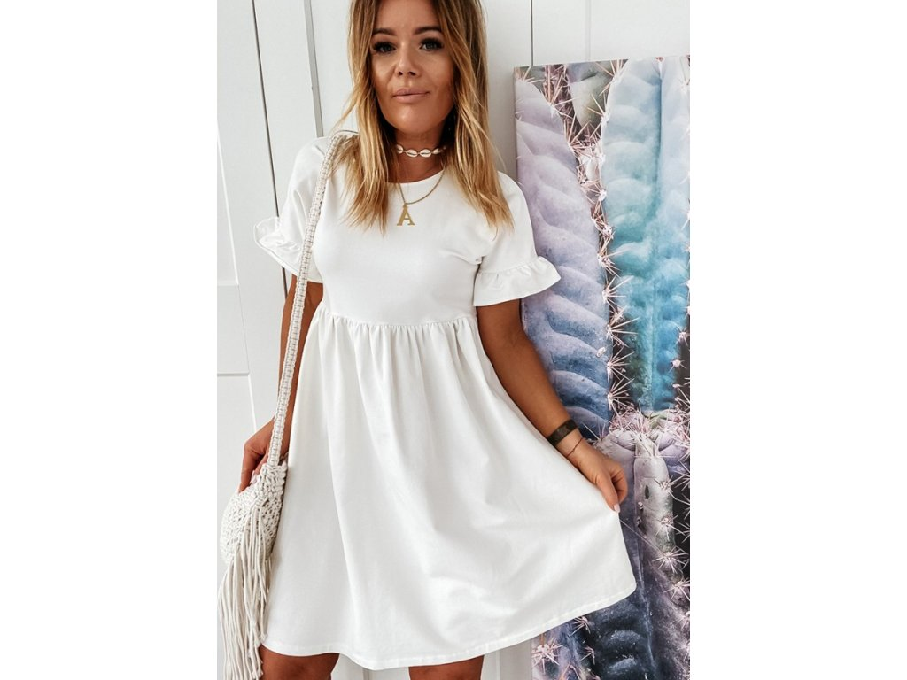 šaty bílé