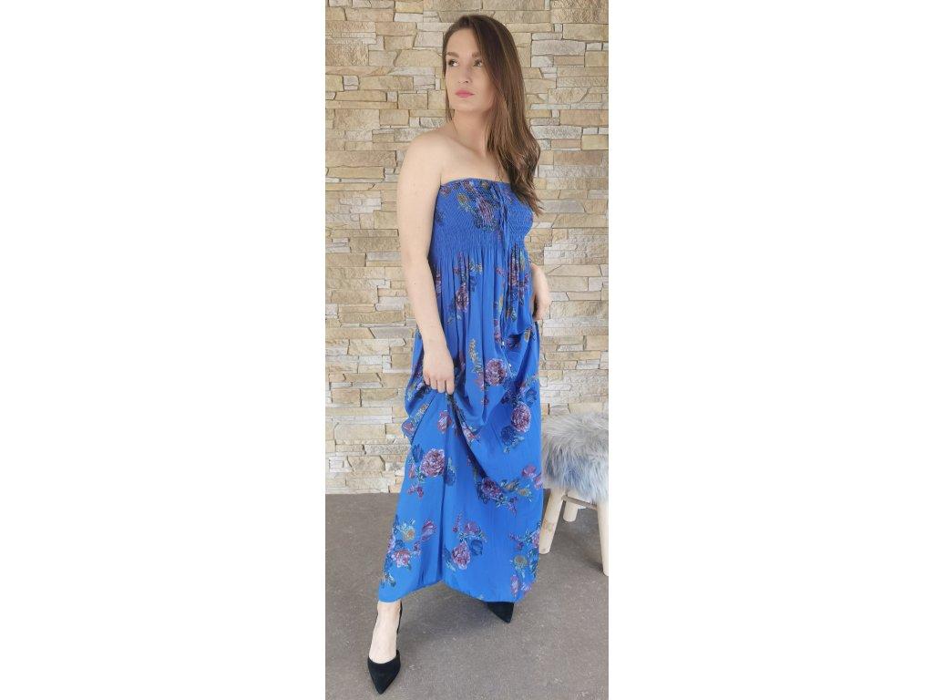 dlouhé šaty modré
