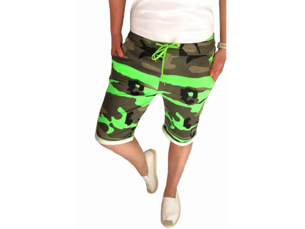 baggy army neon zelené