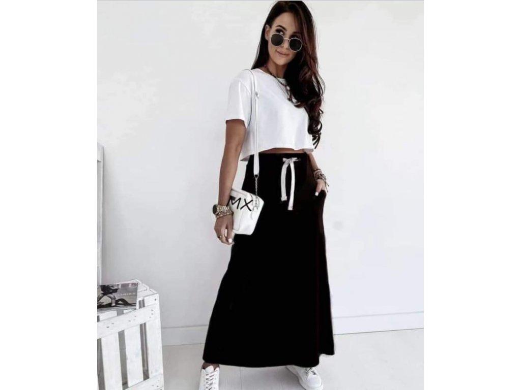 bavlna dlouhá sukně černá