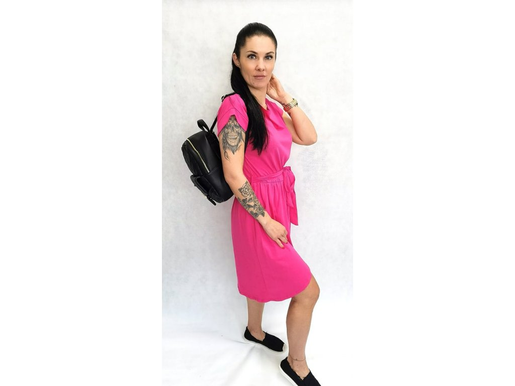bavlněné šaty růžové