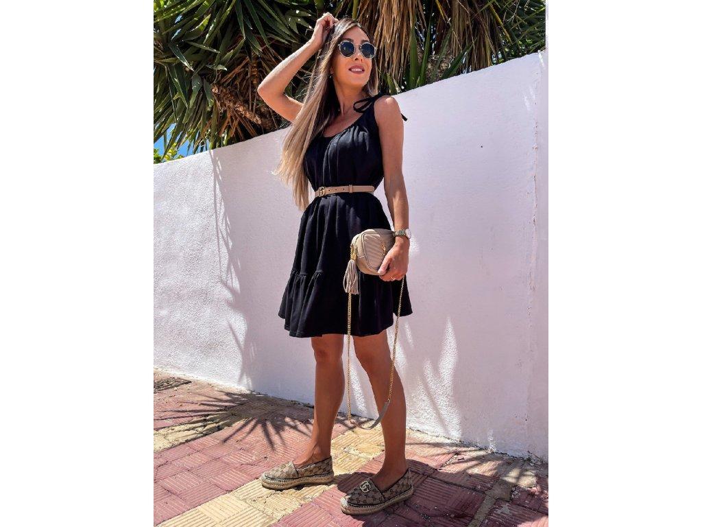 šaty ramínka černé