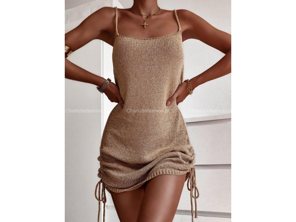 šaty pletené.