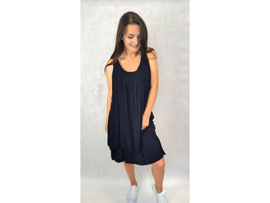Šaty s krajkou na zádech černé