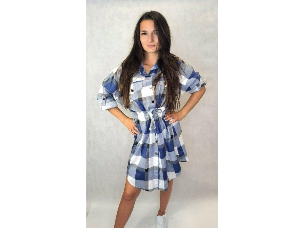 Košilové šaty tmavě modré