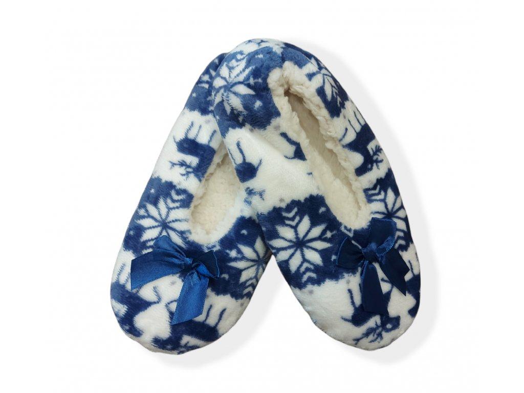 Dámské bavlněné balerínky modré