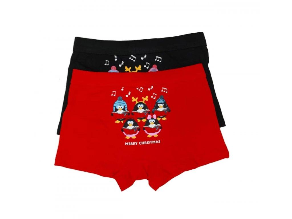 Chlapecké vánoční boxerky dvojbalení