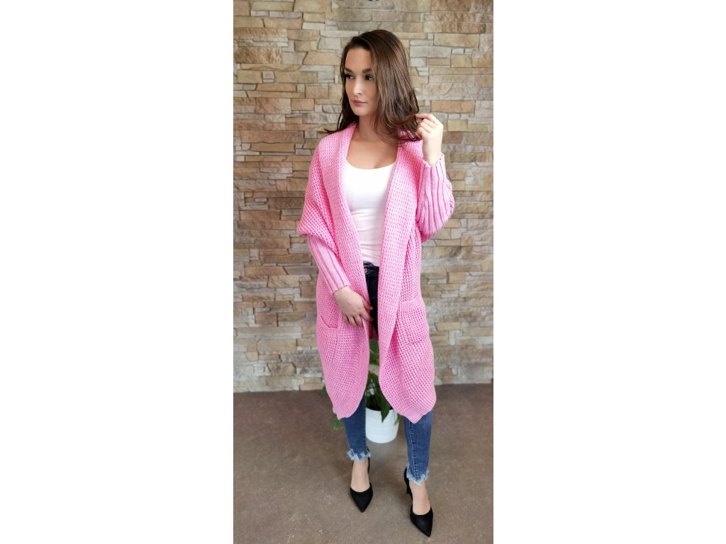 pletený růžový