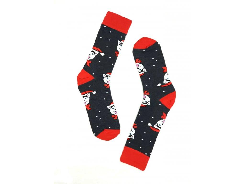 Pánské Vánoční ponožky tmavě šedé