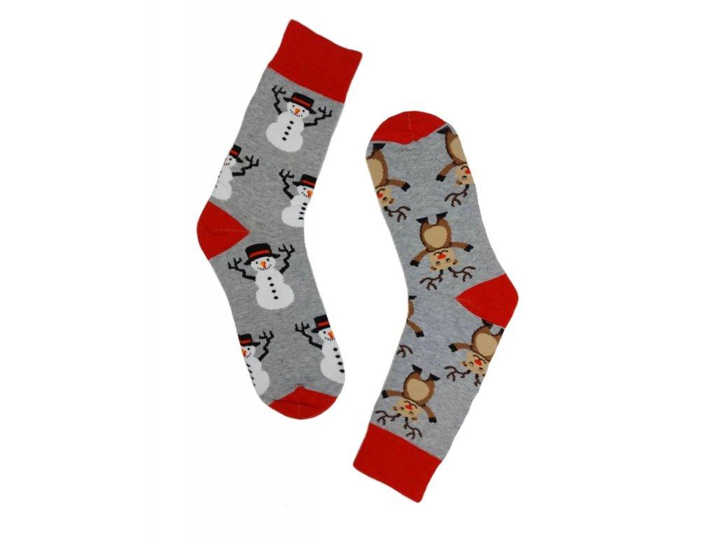Pánské Vánoční ponožky šedé