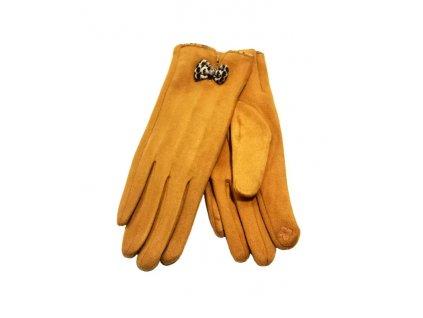 rukavice hořčice