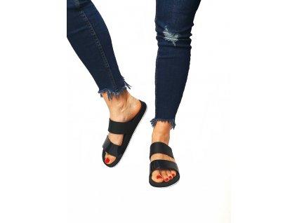 pantoflíky černé