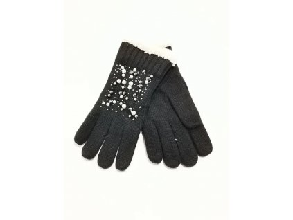 rukavice perly černé