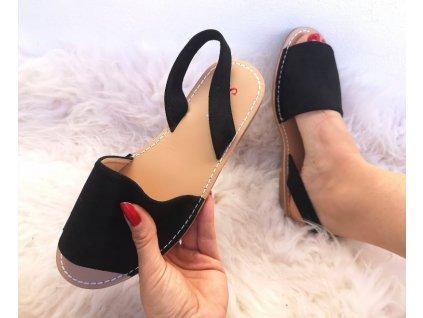 sandálky černé