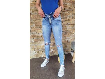 jeans vysoký pas