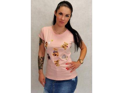 triko medvídci růžové