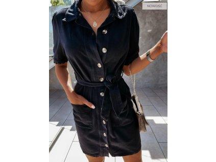 šaty knoflíky černé