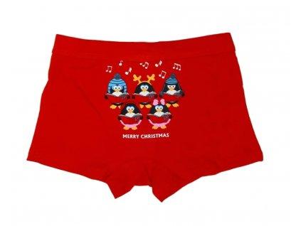 Chlapecké vánoční boxerky červené