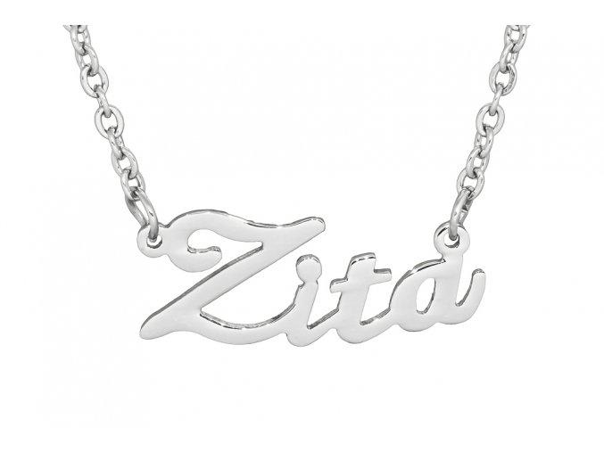 Řetízek se jménem - Zita  chirurgická ocel, dárkově zabaleno