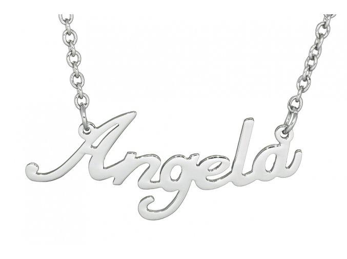 Řetízek se jménem - Angela  dárkově zabaleno