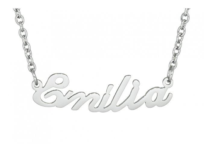 Řetízek se jménem - Emilia  dárkově zabaleno