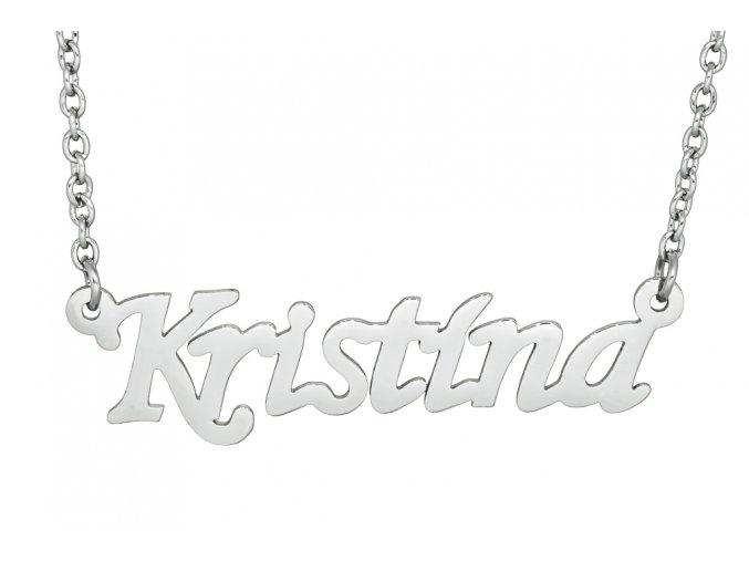Řetízek se jménem - Kristína  dárkově zabaleno
