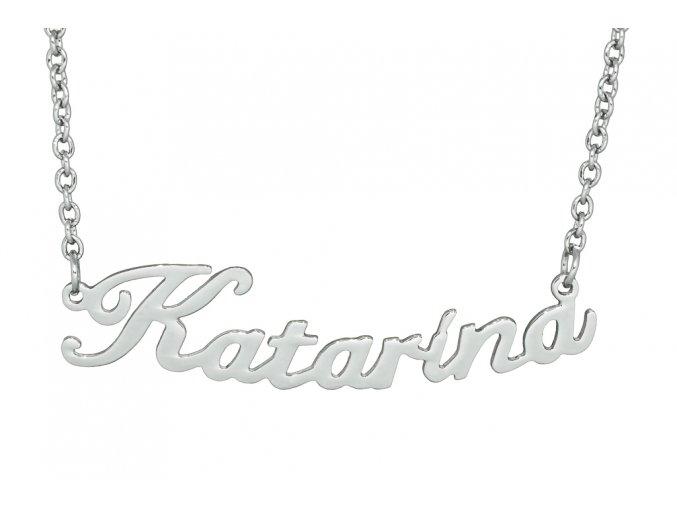 Řetízek se jménem - Katarína  dárkově zabaleno