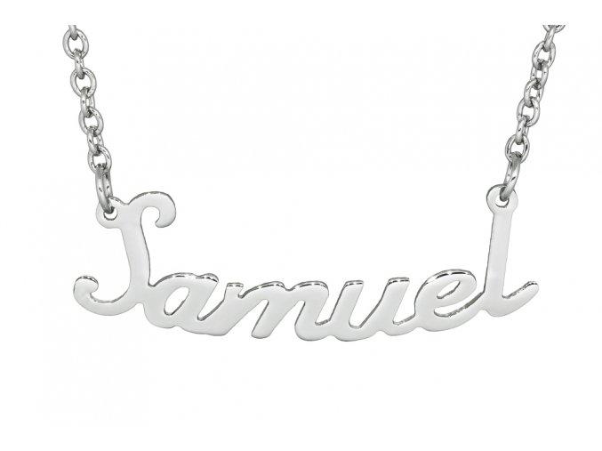 Řetízek se jménem - Samuel  dárkově zabaleno