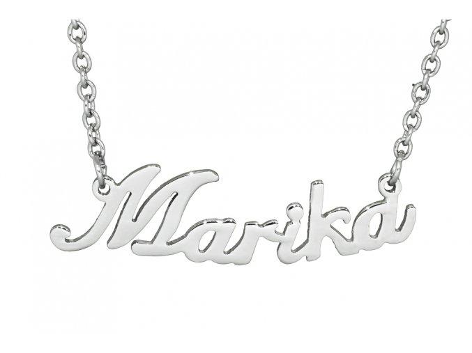 Řetízek se jménem - Marika  dárkově zabaleno