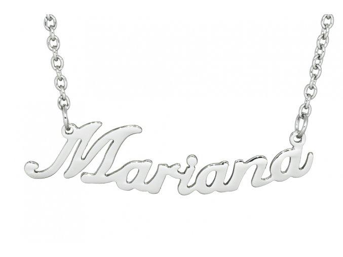 Řetízek se jménem - Mariana  chirurgická ocel, dárkově zabaleno