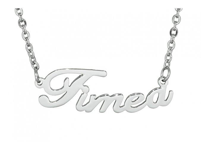 Řetízek se jménem - Timea  dárkově zabaleno