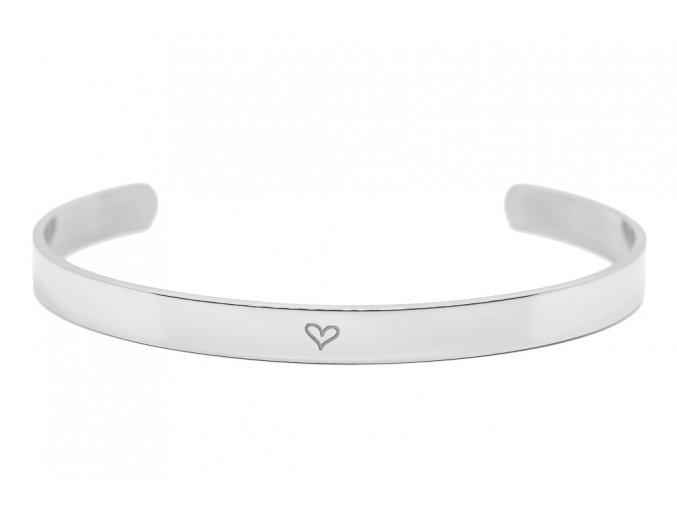 Stříbrný náramek s TEXTEM/INICIÁLOU na přání  chirurgická ocel, dárkově zabaleno