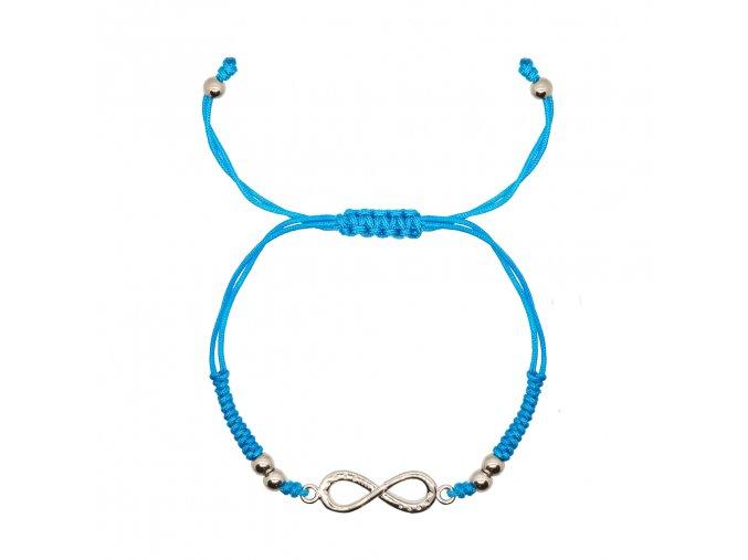 Stříbrný infinity náramek (barevné varianty)  Stříbro Ag 925/1000, dárkově zabaleno