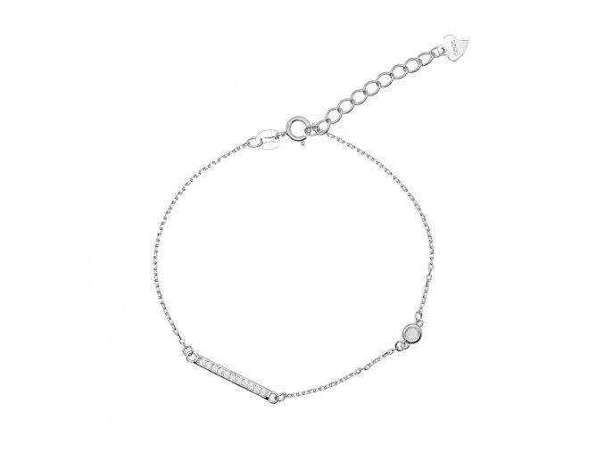 Stříbrný náramek - Line 1  Rhodiované stříbro Ag 925/1000, dárkově zabaleno
