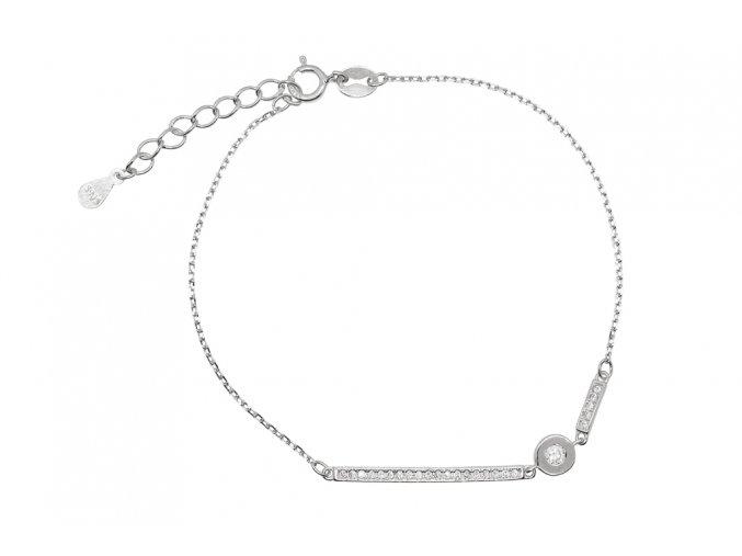 Stříbrný náramek - Line 2  Rhodiované stříbro Ag 925/1000, dárkově zabaleno