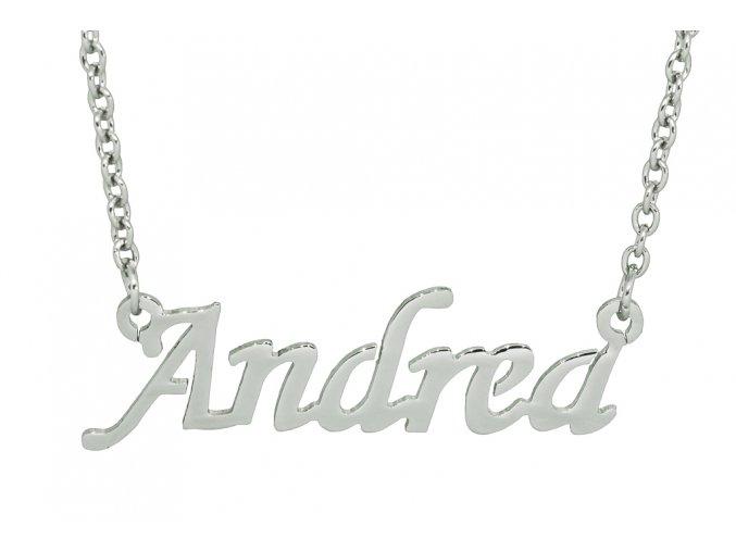 Řetízek se jménem - Andrea  chirurgická ocel, dárkově zabaleno