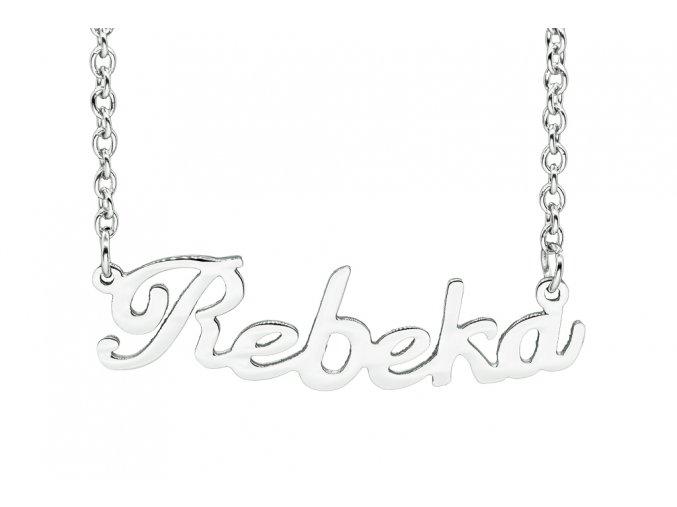 Řetízek se jménem - Rebeka  chirurgická ocel, dárkově zabaleno